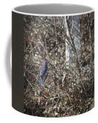 Bluebird In Barberries Squared Coffee Mug