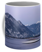 Boat And Alps Coffee Mug