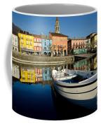 Boat And Village Coffee Mug