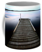Boat Dock At Smallfish Lake In Scenic Saskatchewan Coffee Mug