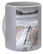 Boat Dock In Winter On A Lake No.0243 Coffee Mug