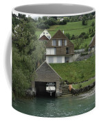 Boat House On A Mountain Slope On The Shore Of Lake Lucerne In Switzerland Coffee Mug