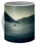 boat on the Lake Maggiore Coffee Mug by Joana Kruse