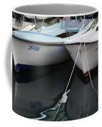 Boat Reflections In Hvar Coffee Mug
