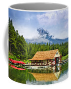 Boathouse On Mountain Lake Coffee Mug