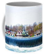 Boathouse Row From Fairmount Dam Coffee Mug
