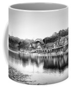 Boathouse Row In Black And White Coffee Mug