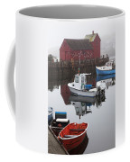 Boats At Rockport Harbor Coffee Mug