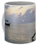 Boats Coming To A Rest For The Day At Sunset In The Lakshadweep Islands Coffee Mug