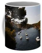 Boats In Cala Figuera Coffee Mug