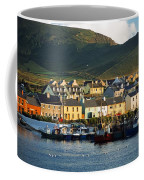 Boats In Harbor By Waterfront Village Coffee Mug