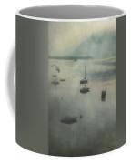 Boats In Mist Coffee Mug
