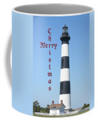 Bodie Lighthouse - Outer Banks - Christmas Card Coffee Mug