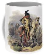 Bodmer: Blackfoot Horseman Coffee Mug