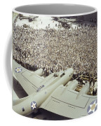 Boeing Workers Gather To Hear A Pilot Coffee Mug by J Baylor Roberts