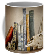 Bone Collector Library Coffee Mug by Heather Applegate