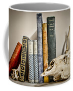 Books And Bones Coffee Mug by Heather Applegate