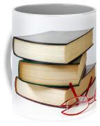 Books And Glasses Coffee Mug by Carlos Caetano