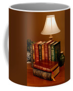 Books Sit On A Desk In A Home Library Coffee Mug by O. Louis Mazzatenta