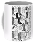 Boots Advertisement, 1895 Coffee Mug