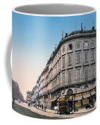 Bordeaux - France - Rue Chapeau Rouge From The Palace Richelieu Coffee Mug by International  Images