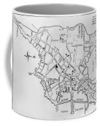Boston: Map, 1770 Coffee Mug