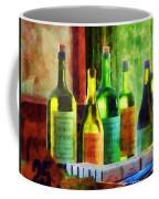 Bottles Of Wine Near Window Coffee Mug