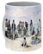 Boudin: Beach Scene, 1869 Coffee Mug