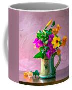 Bougainvilleas In A Green Jar. Valencia. Spain Coffee Mug