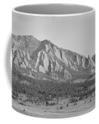 Boulder Colorado Flatiron Scenic View With Ncar Bw Coffee Mug