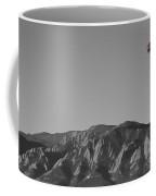 Boulder Colorado Flatirons Hot Air Balloon View Bw Coffee Mug