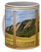 Boulder Colorado Flatirons Window Scenic View Coffee Mug by James BO  Insogna
