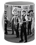 Bourbon Street Second Line Wedding New Orleans In Black And White Coffee Mug