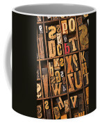 Box Of Old Wooden Type Setting Blocks Coffee Mug