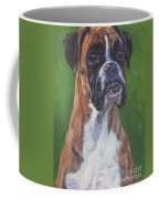 Boxer Coffee Mug by Lee Ann Shepard