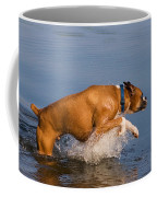 Boxer Playing In Water Coffee Mug