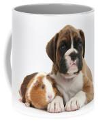 Boxer Puppy And Guinea Pig Coffee Mug