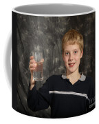 Boy With A Hot Glass Of Water Coffee Mug