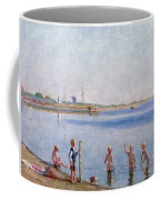 Boys At Water's Edge Coffee Mug
