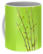 Branches With Green Spring Leaves Coffee Mug
