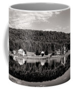 Brant Lake Reflections Black And White Coffee Mug