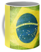 Brazil Flag Coffee Mug by Setsiri Silapasuwanchai