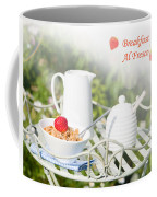 Breakfast Al Fresco Coffee Mug by Amanda Elwell