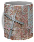 Brick Wall Cross Coffee Mug