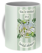 Bridal Shower Invitation - Apple Blossoms Coffee Mug