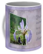 Bridal Shower Invitation - Blue Flag Iris Wildflower Coffee Mug