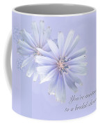 Bridal Shower Invitation - Chicory Wildflower Coffee Mug