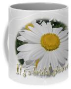 Bridal Shower Invitation - White Ox Eye Daisy Coffee Mug