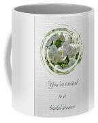 Bridal Shower Invitation - White Spirea Coffee Mug