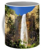 Bridal Veil Falls At Yosemite Coffee Mug
